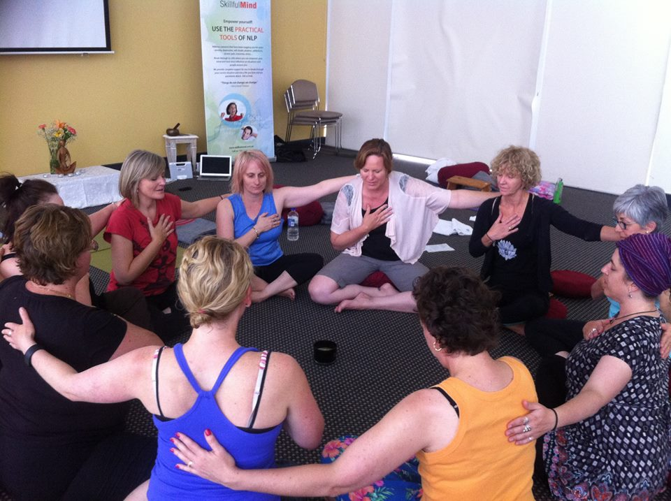 Jo teaching @ Skilful Mind Retreat