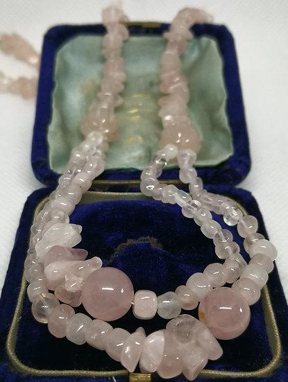 Rose Quartz Double Strand Necklace