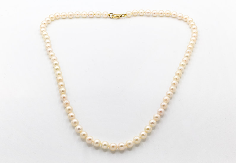 Cultured pearl necklace with 9ct Gold clasp