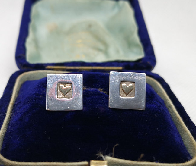 Sterling Silver and 9ct Gold Studs