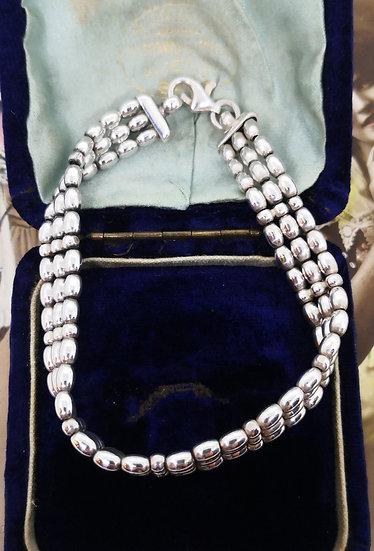 Sterling Silver Bead Bracelet
