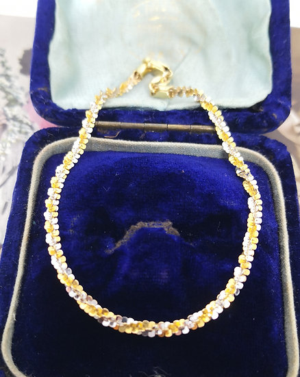 9ct White and Yellow Gold Twist Bracelet