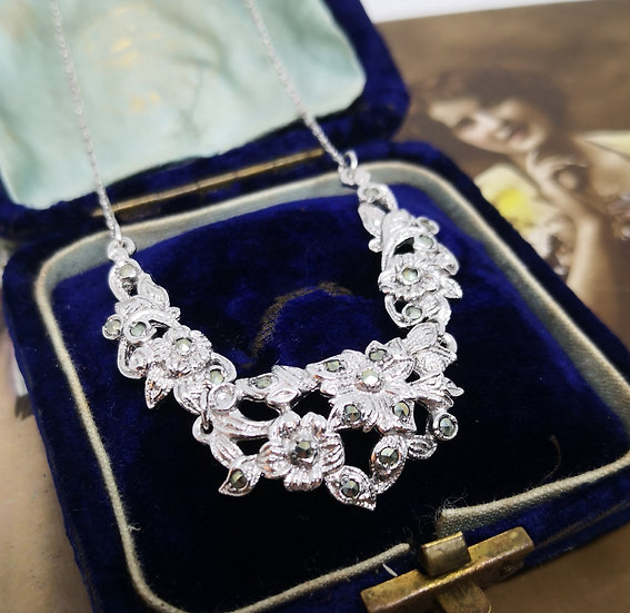 Stunning Vintage BJL Marcasite Necklace