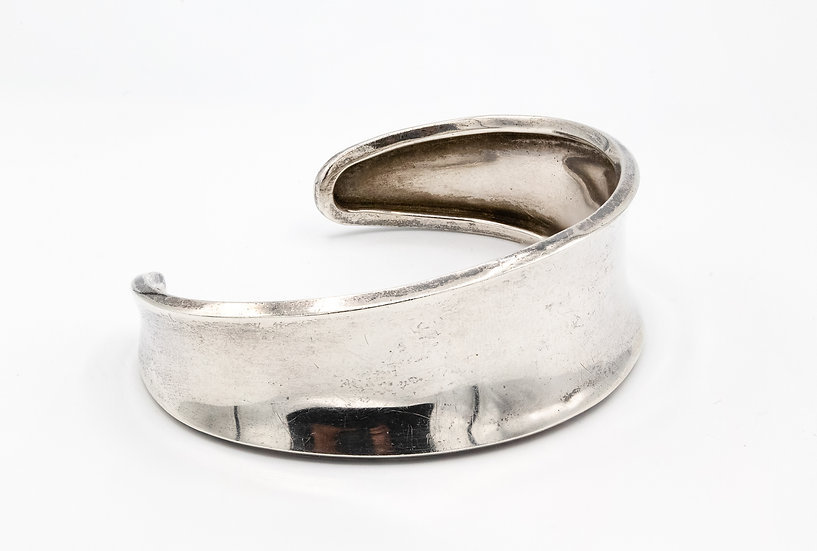 Sterling Silver Mexican Wide Bangle/Cuff