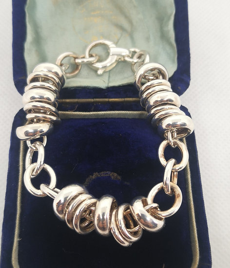 Gorgeous Chunky Solid Silver Bracelet