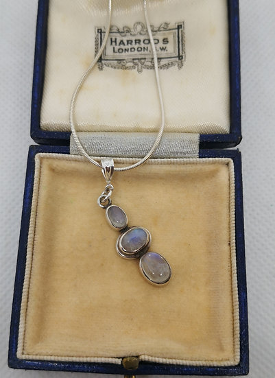Pretty Sterling Silver and Moonstone Necklace.