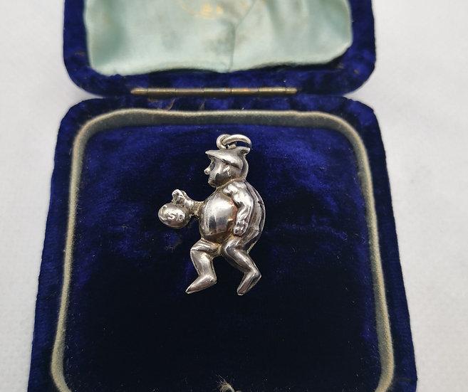 Vintage British Made Burglar Charm for Charm Bracelet