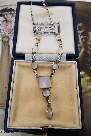 Beautiful Sterling Silver and Moonstone Necklace