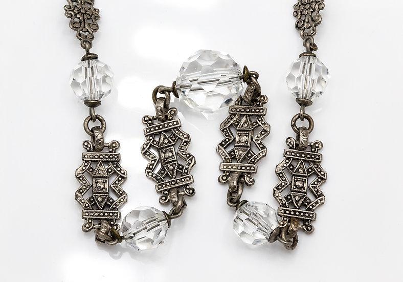 Art Deco Crystal Necklace