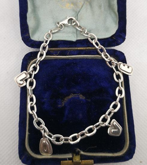 Sterling Silver Fossil LOVE Bracelet