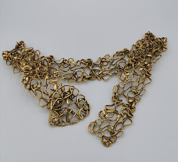Stunning Yves Saint Laurent Metal Wirework Belt