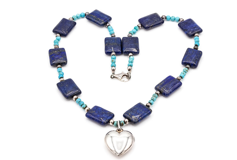 Silver Lapis Lazuli and Turquoise