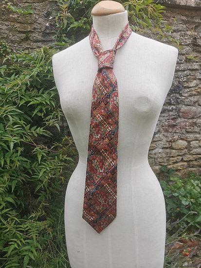 Vintage Mens Lanvin 100% Silk Paisley Tie