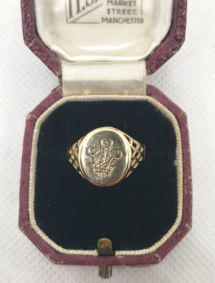 9ct Gold Prince of Wales Signet Ring