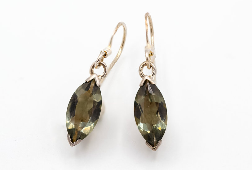 Sterling Silver and Topaz Drop Earrings