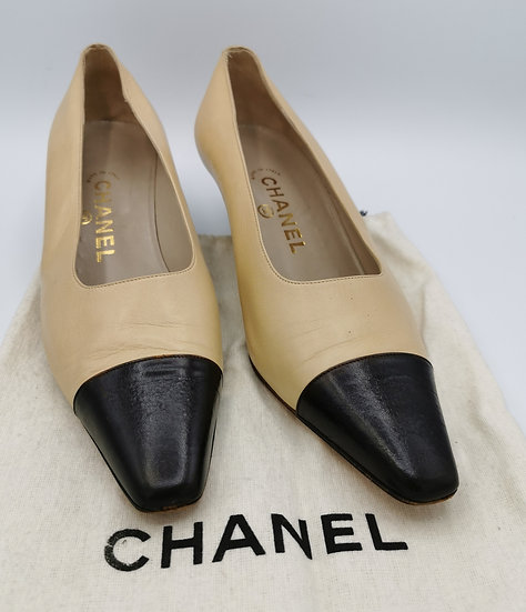 Genuine Chanel Soft Leather Court Shoes