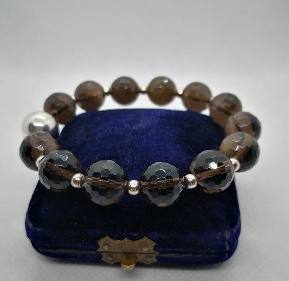 Beautiful Silver and Smoky Quartz Bracelet
