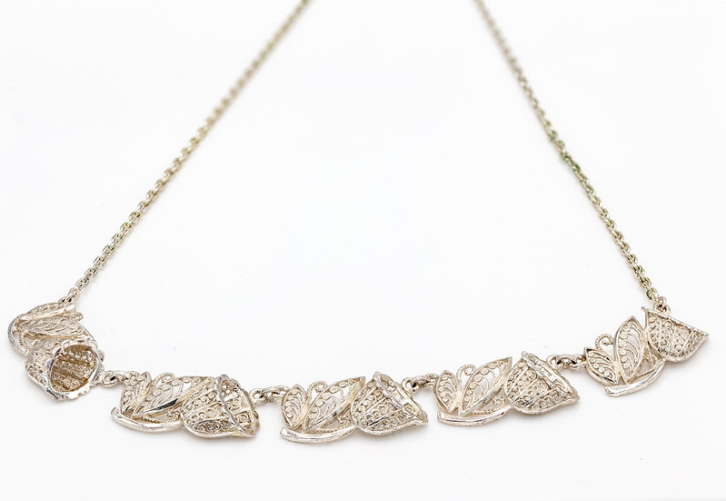 Sterling Silver Ornate Necklace