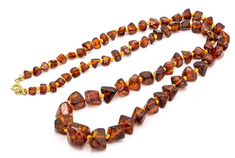 Vintage Art Deco Raw Amber Necklace