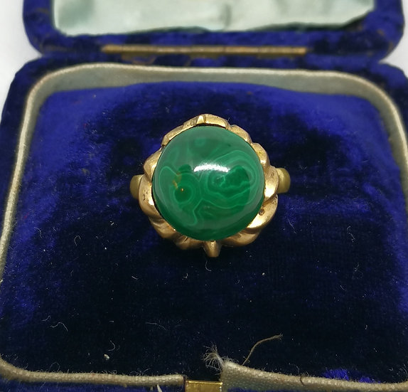 Vintage Malachite Costume Ring
