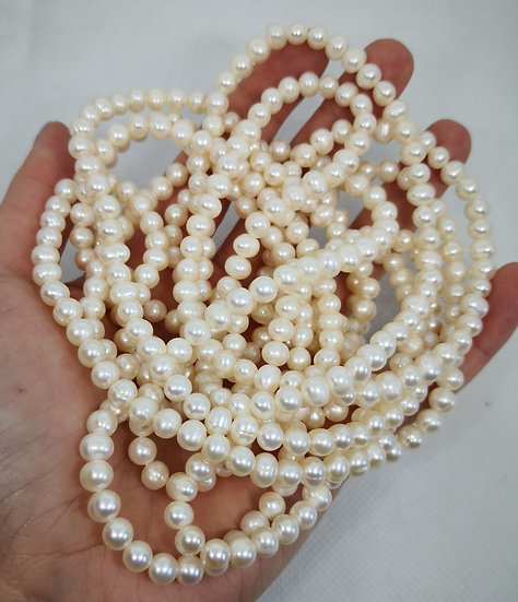 Long Flapper 1920s Style Pearl Necklace