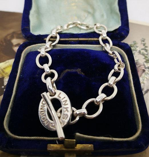 Sterling Silver Links of London Bracelet Boxed