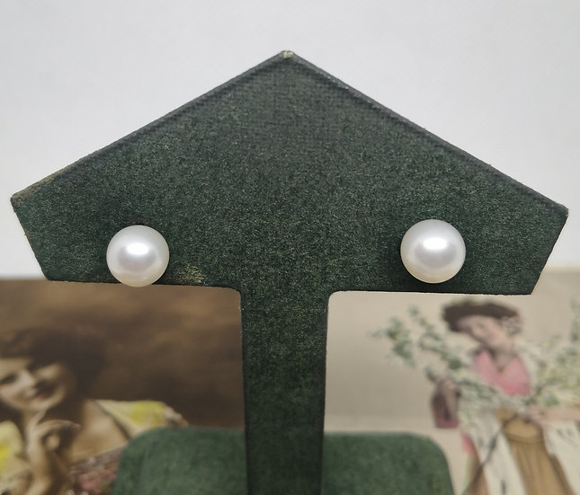 14ct Gold and Cultured Pearl Studs