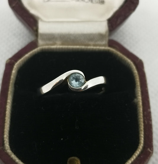 Simple Silver and Topaz Ring