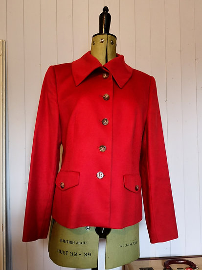 Beautiful 100% Cashmere Red Jacket