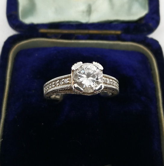 Sterling Silver and Cz Statement Ring