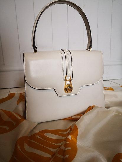Genuine Vintage Gucci Cream Leather Handbag