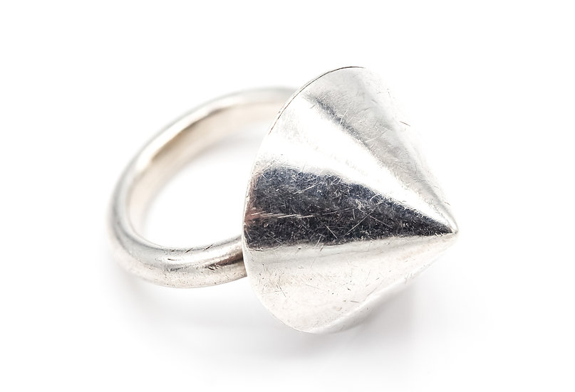 Sterling Silver Unusual Cone Ring
