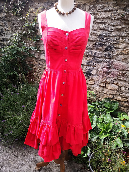 1970's Red Summer Dress