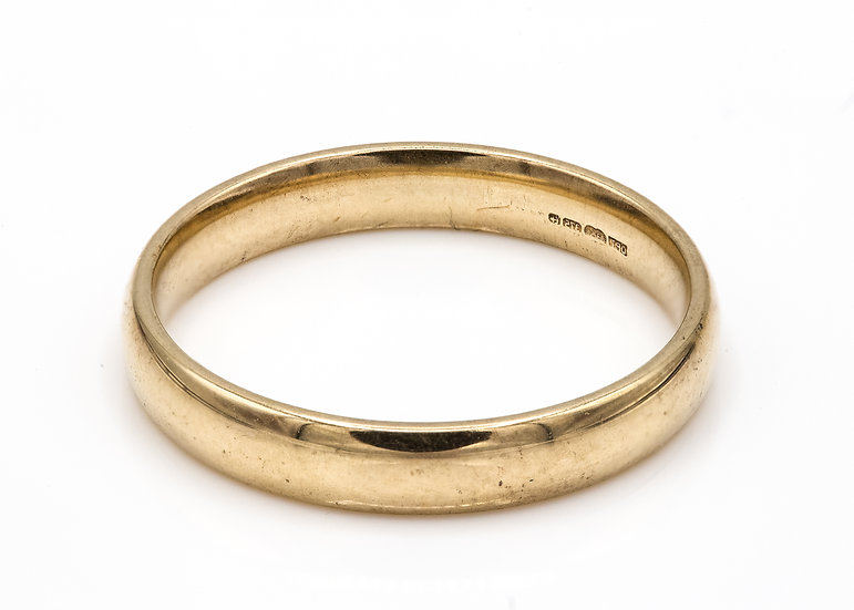 9ct Gold Simple Band Ring