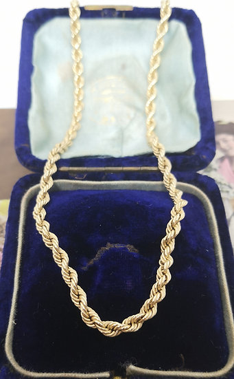 9ct Gold Rope Chain Necklace