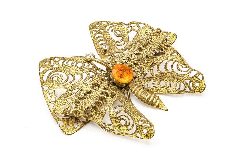 1930's Gold Tone Butterfly Brooch