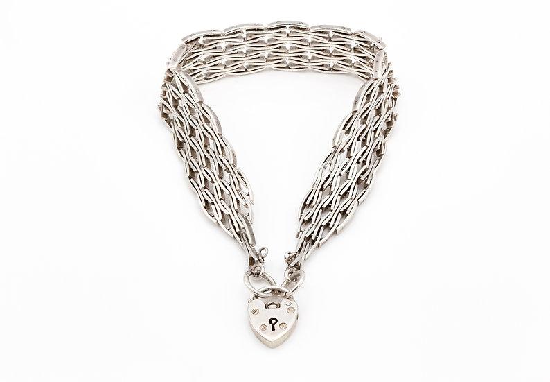 Sterling Silver Unusual Gate Bracelet