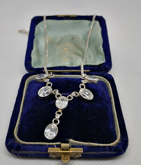 Beautiful Sterling Silver and Cz Necklace