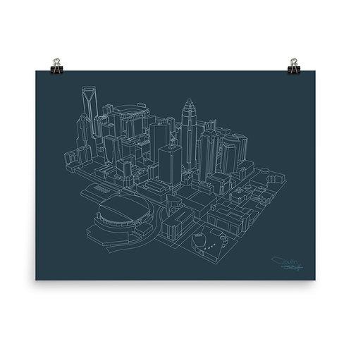 Charlotte Skyline Lines - Print