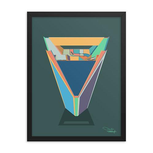 Duke Energy Center - Framed Print