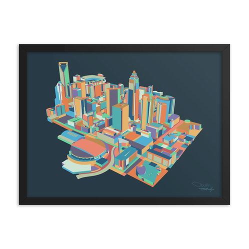Charlotte Skyline - Framed Print