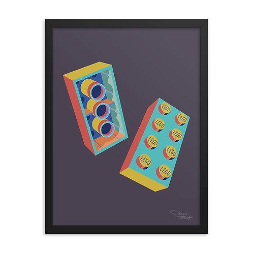 LEGO Brick - Framed Print