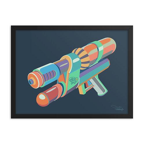 Water Gun - Framed Print