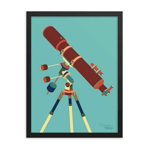 Telescope - Framed Print