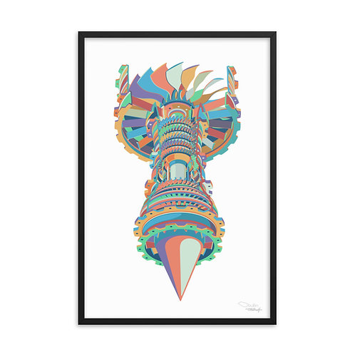 Turbofan Jet - Framed Print (white)