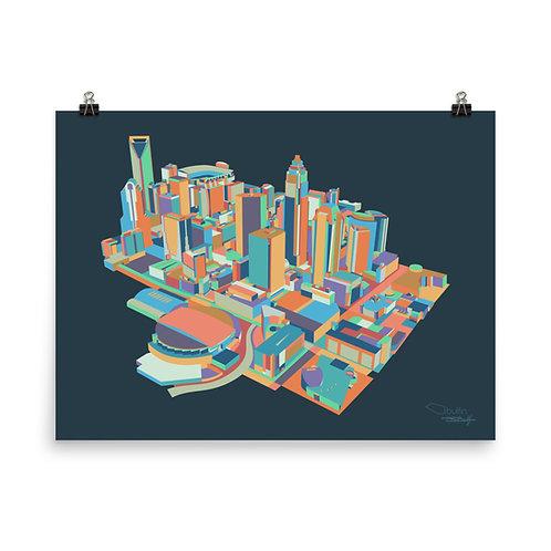 Charlotte Skyline - Print
