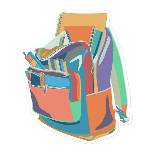School Backpack - Vinyl Sticker