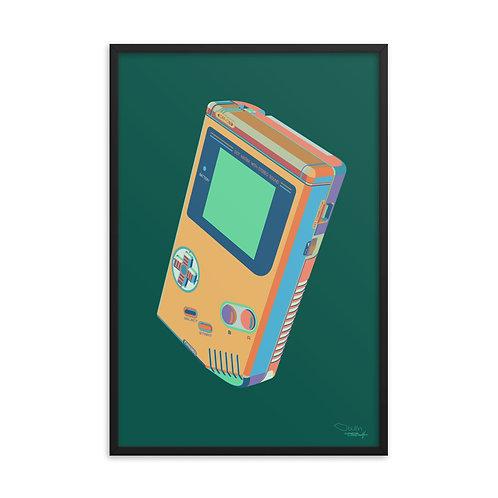 Handheld Game - Framed Print