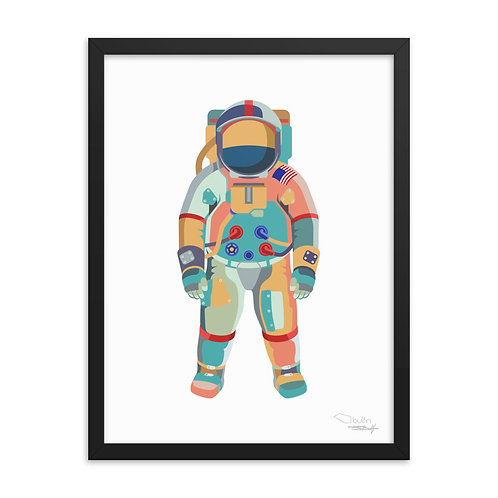 Astronaut - Framed Print (white)