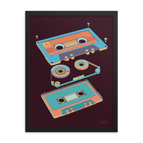 Cassette - Framed Print